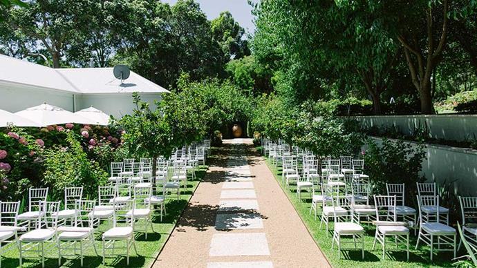 <strong>On their vision for the day: </strong> <br><br> We wanted a wedding that was relaxed, intimate, and elegant. We decided early on that we wanted to be amongst nature and have a reception under the stars.