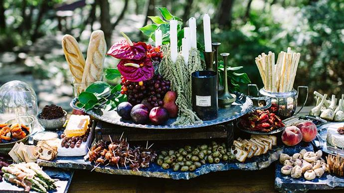 <strong>On the style of reception: </strong> <br><br> Canapés and the grazing table were served while the bridal party had photos between the ceremony and reception, then we all sat down together for dinner.