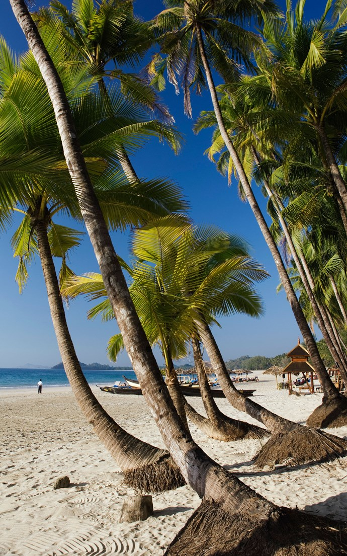 <p><strong>Ngapali Beach, Myanmar</strong> <p>With the rise of tourism in Myanmar, there are plenty of places to stay in this beach town on the Bay of Bengal–but don't fear that it's lost its charm, it still maintains its sleepy fishing village vibe.