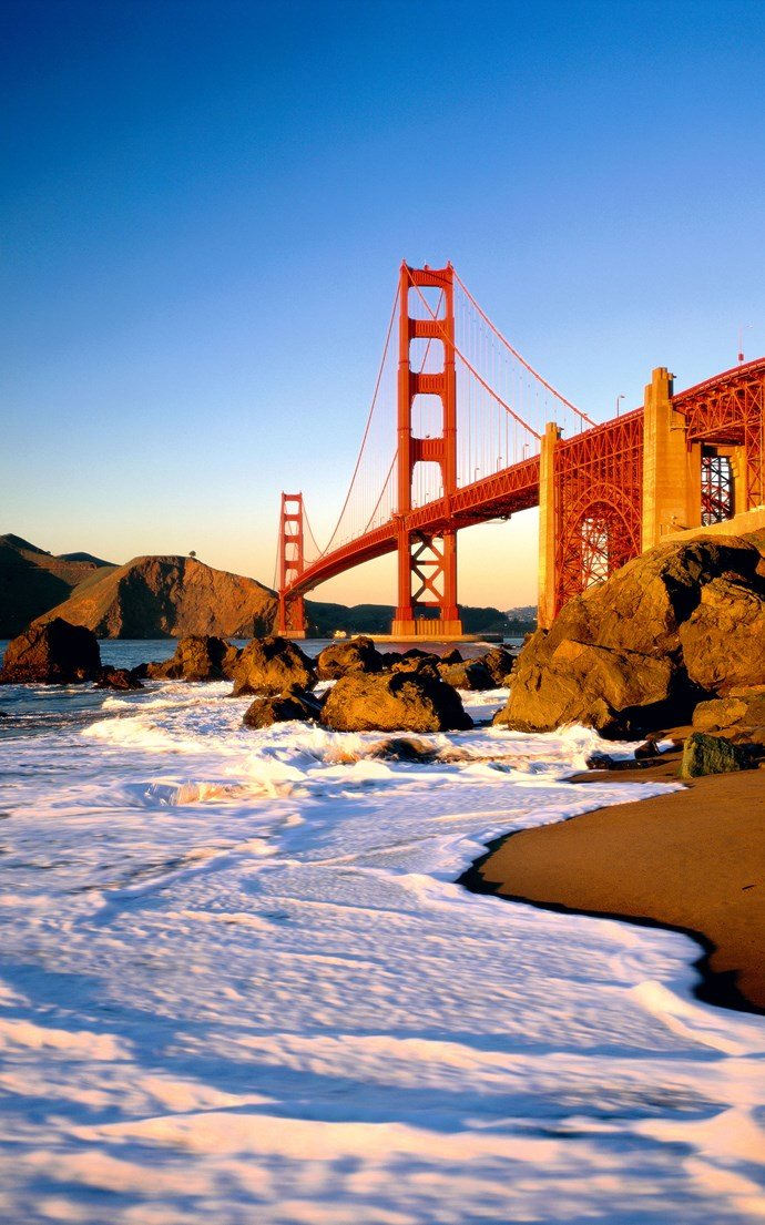 <p><strong>Baker Beach, San Francisco</strong> <p>While San Francisco might not be the sunny beach town you would imagine to see on a list like this, Baker Beach is worth visiting for the spectacular views of the Golden Gate Bridge. Fair warning: the northernmost end of the beach is clothing optional.