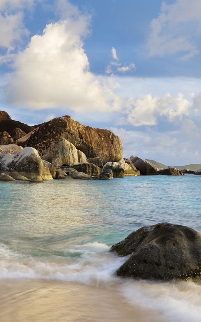 <p><strong>The Baths, British Virgin Islands</strong> <p>Large granite boulders line the coast at the southern tip of Virgin Gorda, forming shallow pools that make The Baths an ideal spot for swimming and snorkelling.