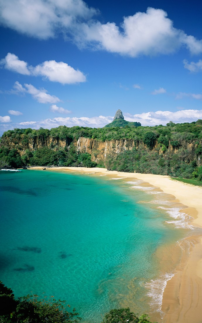 <p><strong>Baia do Sancho, Brazil</strong> <p>Located 200 miles off Brazil's coast on Fernando de Noronha island, Baia do Sancho is only accessible via boat or by hiking down a narrow staircase from surrounding cliffs making it secluded and virtually untouched.