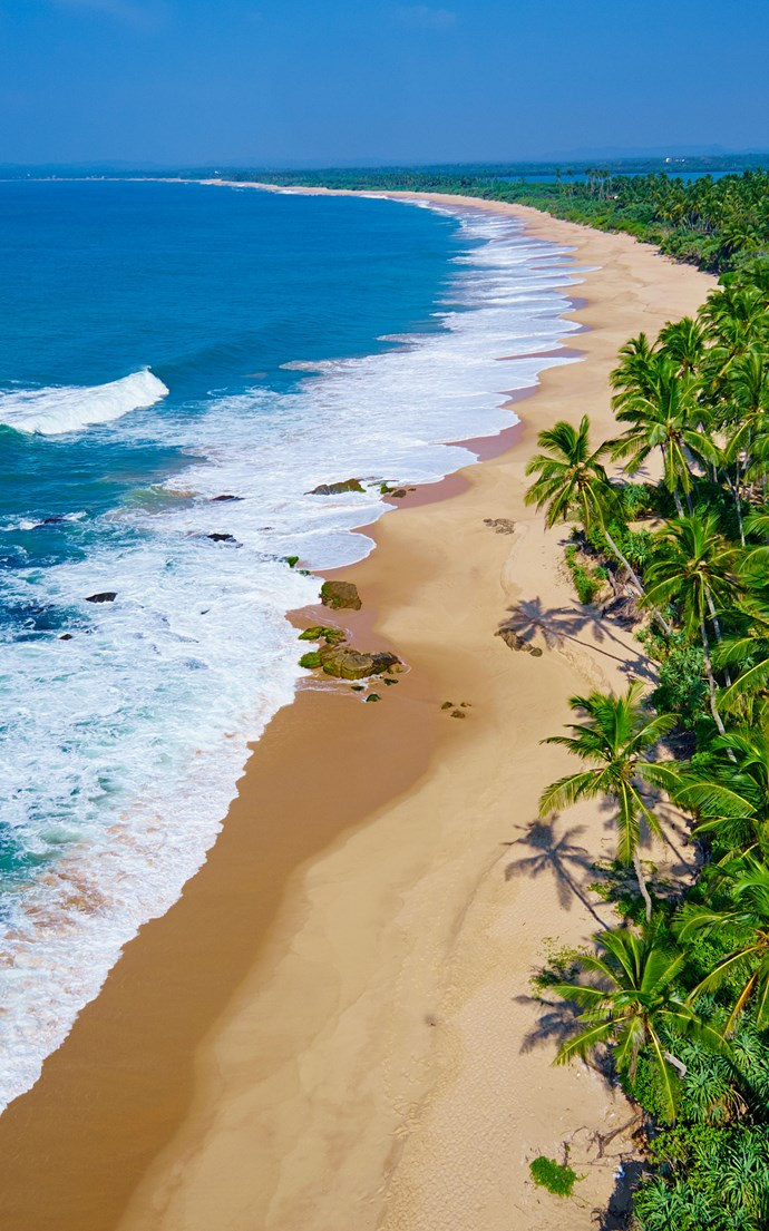 <p><strong>Tangalle Beach, Sri Lanka</strong> <p>If you're looking for untouched beaches, head to southeast Sri Lanka to enjoy the wide open sands of Tangalle Beach.
