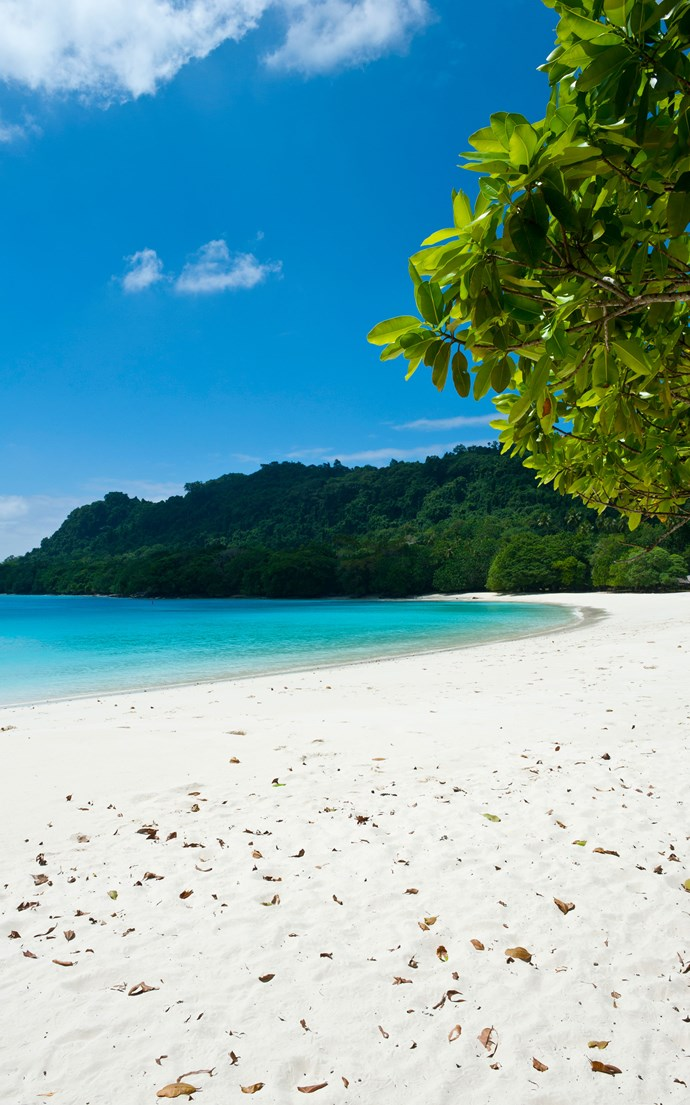 <p><strong>Champagne Beach, Vanuatu</strong> <p>If you're looking to go off the grid, head to this remote white sand beach on Espiritu Santo Island in the South Pacific.