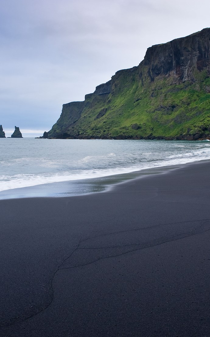 <p><strong>Black Sand Beach, Iceland</strong> <p>Iceland might not conjure up images of a beach vacation, but the black sand beaches of its southernmost town, Vik, are worth exploring.