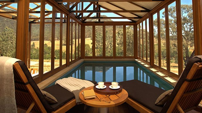 "<strong>Emirates One&Only Wolgan Valley</strong> <br><br> <strong>Where:</strong> Wolgan Valley, 2.5 hours from Sydney by car <br><br> <strong>About:</strong> Now in the hands of One&Only Resorts, which also owns Hayman Island, guests to Wolgan Valley can immerse themselves in nature by horse riding and biking. And if you're not the outdoorsy type, every suite has a private pool and fireplace for total relaxation. <br><br> Eco-points: Making the most of the pristine Blue Mountains, the resort strongly aims to not impact its' diverse local surroundings. That's why it's completely powered by renewable solar energy, and no trees were destroyed in construction. <br><br> Website: <a href=""https://www.oneandonlyresorts.com/one-and-only-wolgan-valley-australia""></a> <br><br> Images: One&Only Hotels & Resorts"
