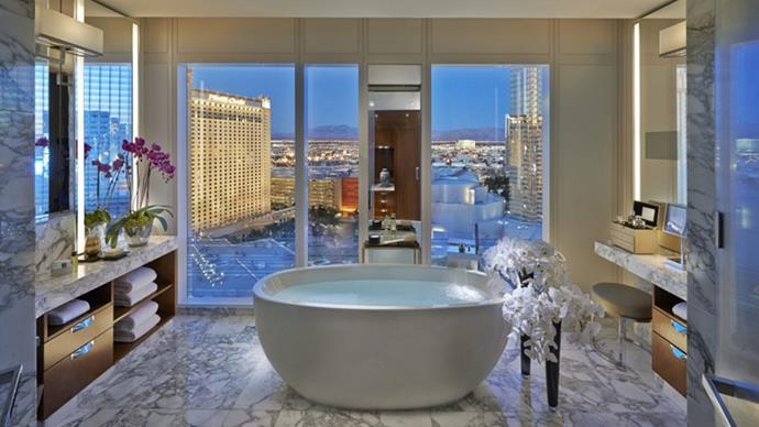"<strong>Mandarin Oriental Las Vegas</strong> <br><br> Where: On the Las Vegas Strip, Nevada <br><br> <strong>About</strong>: A luxury non-gambling hotel, guests who love the Vegas energy but want to steer away from the games can find peace at the Mandarin Oriental, where Vegas style meets the refined luxury that only a Mandarin Oriental hotel is capable of. <br><br> <strong>Eco points:</strong> The hotel has incorporated a natural cooling system to combat the intense desert heat. Understanding of its' desert conditions, the hotel has also incorporated a state-of-the-art water conservation system to make sure the least possible amount of water is being wasted. <br><br> Website: <a href=""http://www.mandarinoriental.com/lasvegas/""></a> <br> Images: Mandarin Oriental"