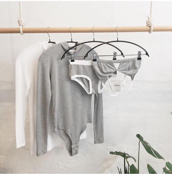 "<p><strong>Woron</strong> <p>It's important to remember to be sustainable through and through, all the way down to your underwear. Watson has vouched for Copenhagen's lingerie company Woron in the past, and has even worn its bodysuits with jeans and skirts on multiple occasions. <p>Visit <a href=""woronstore.com."">woronstore.com.</a>"