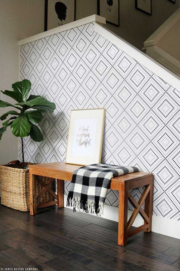 <strong>Removable Wallpaper</strong> <br><br> Removable wallpaper is also trending on Pinterest right now with renters who are looking for other non-permanent decor options.