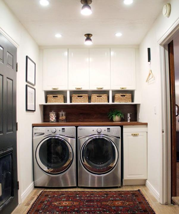 <strong>Laundry Room Ideas</strong> <br><br> Even though laundry rooms are functional spaces, pinners are looking for ways to beautify and organise an often drab room with rugs, plants and stylish baskets.