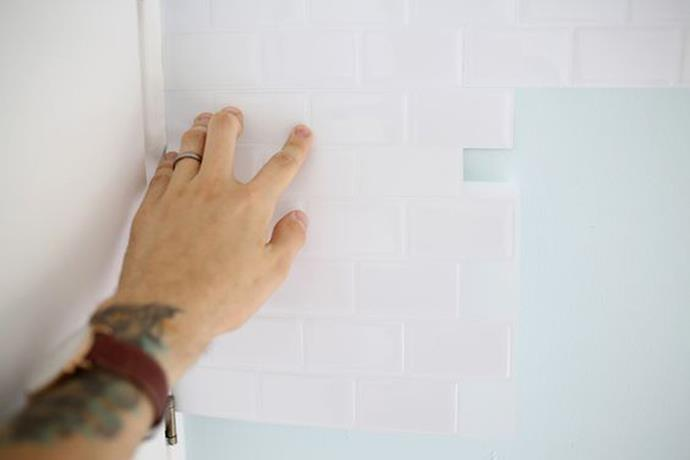 <strong>Faux Finishes</strong> <br><br> Renters are turning to Pinterest for temporary ways to revamp their spaces with stick-on subway tile that require little-to-no DIY skills.