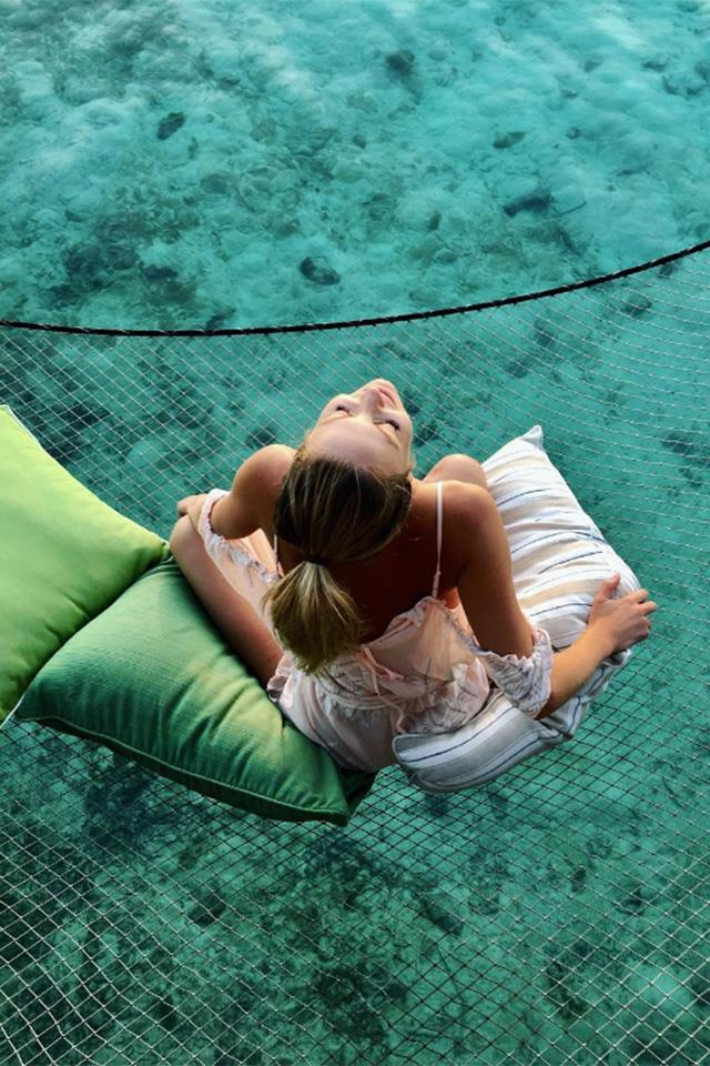 """<strong>The Maldives</strong> <br> <br> Jennifer Hawkins is a huge fan of the tropical nation, visiting with her husband Jake Wall in both 2014 and 2016. <br> <br> <a href=""""https://www.instagram.com/jenhawkins_/"""">@JenHawkins_</a>"""