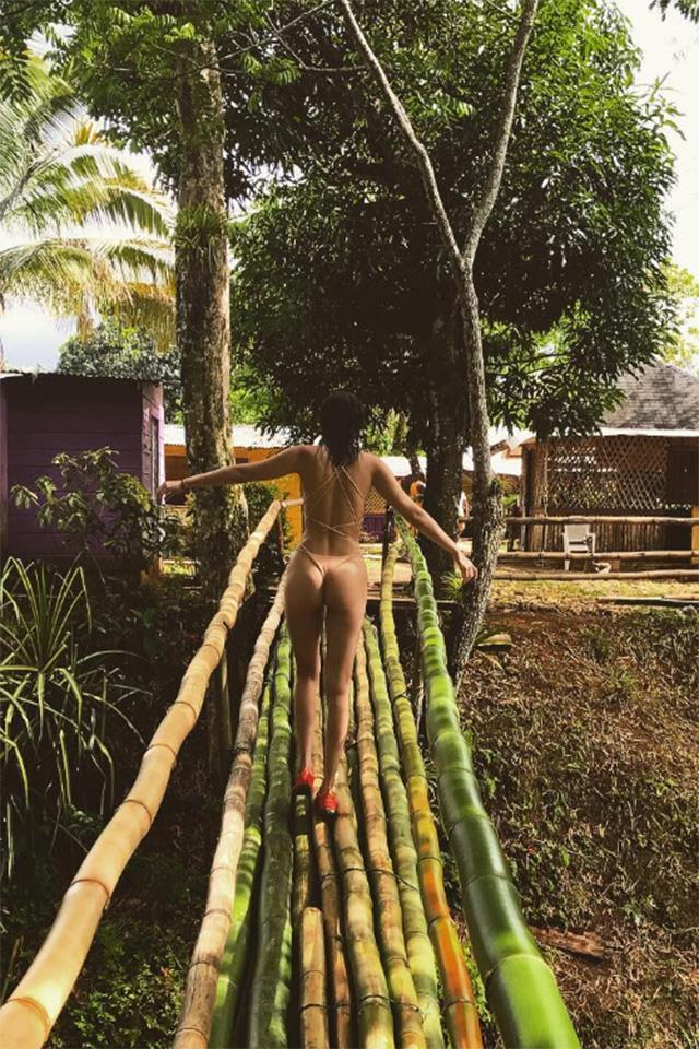 """<strong>Jamaica</strong> <br> <br> Bella Hadid has given us so much vacay envy this year, including this picturesque holiday in Jamaica, where she stayed at the Rockhouse hotel in Negril. <br> <br> <a href=""""https://www.instagram.com/bellahadid/?hl=en"""">@Bellahadid</a>"""