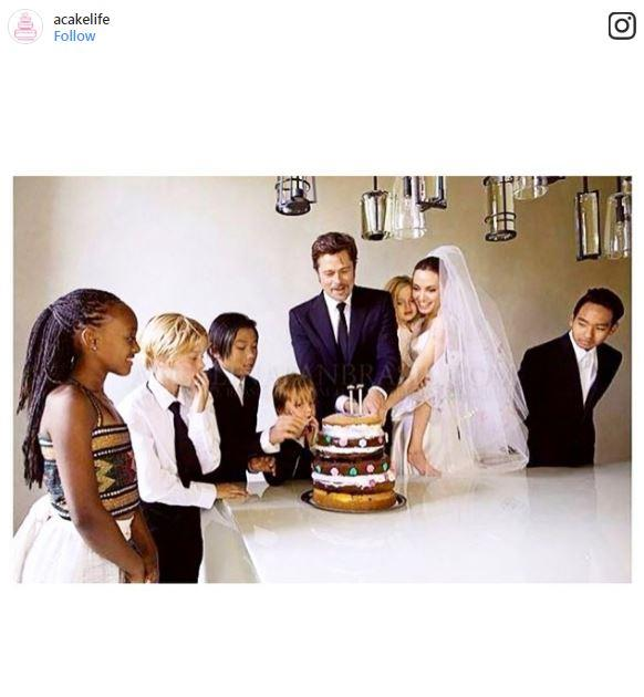"<p><strong>Brad Pitt & Angelina Jolie</strong> <P>The amazing thing about Pitt and Jolie's wedding cake isn't how many tiers it had or the intricate fondant craftwork, but that it was <a href=""http://people.com/celebrity/brad-pitt-and-angelina-jolies-family-wedding-album-appears-in-people/"">made by their son, Pax. </a> <p> <em>Via: <a href=""https://www.instagram.com/p/sseTPEDQtA/"">@acakelife</a></em>"