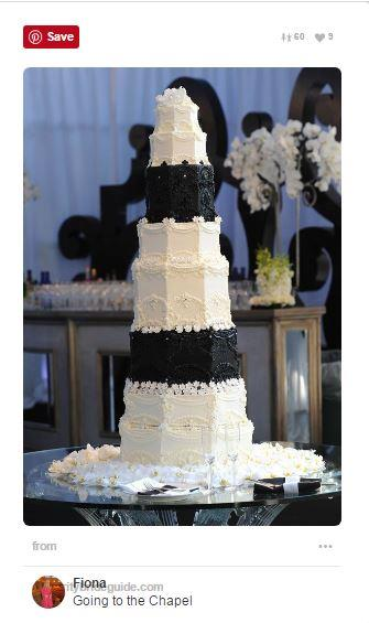 "<p><strong>Kim Kardashian & Kris Humphries</strong> <p>Like her sister, Khloe, Kim opted for a classic, tuxedo-inspired black and white wedding cake when she married Kris Humphries. The eight-foot tall cake weighed an insane <a href=""http://www.eonline.com/news/267637/everything-you-need-to-know-and-more-about-kim-kardashian-s-wedding-cake"">600 pounds,</a> and was a chocolate-chip marble cake decorated with buttercream frosting. <p><em>Via:<a href=""https://cz.pinterest.com/fiona5/""> Pinterest/Fiona 5</a></em>"