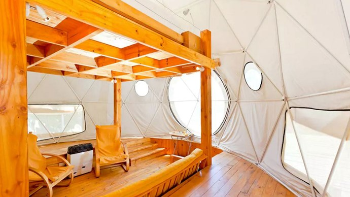 """<strong><a href=""""https://www.airbnb.co.uk/rooms/28429"""">Elqui Domos</a> in Paiguano, Chile</strong>.<p><p> After an astronomical experience? Rent out one of these little two-storey geometrical domes and gaze at the stars all night long.<p> $261 per night"""