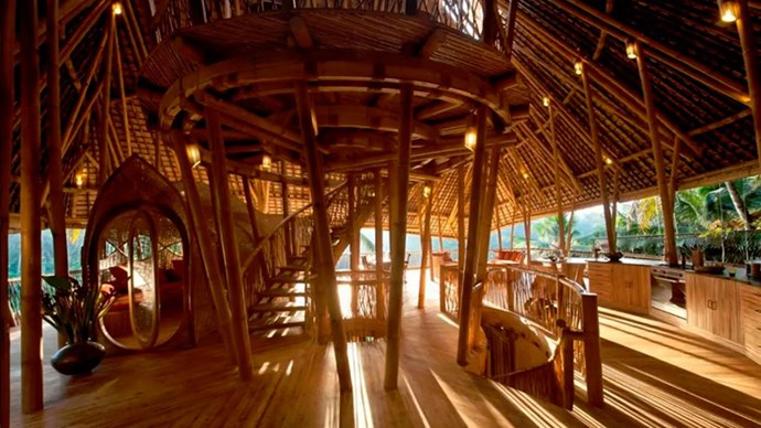 """<strong><a href=""""https://www.airbnb.co.uk/rooms/798483"""">The Bamboo House</a> in Abiansemal, Indonesia</strong>.<p><p> If you're not into hotels, this all-bamboo house is the ideal spot. The filtered light, forrest surroundings, picture-perfect sunsets are the perfect recipe for an excellent selfie. <p> $446 per night"""