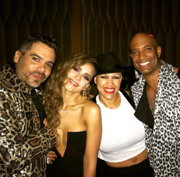 """Had such a great time tonight!! Celebrating @jessicaalba Michael vs. Prince birthday party 🎉 always good catching up with friends 😊 #jessicaalba #michaeljackson #prince #goodtimes #nightawayfromkids #fun""<br><br> Instagram: <a href=""https://www.instagram.com/p/BTdwhnQjvW2/?tagged=jessicaalba"">@vadervibz</a>"