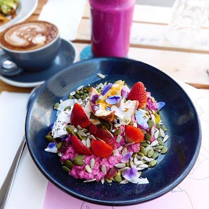 """<strong>1. Bircher muesli </strong> <br> <br> Chalmers recommends, """"About 1/3 cup rolled oats soaked in the same amount of unsweetened almond or skim milk with a few tablespoons of Greek yoghurt, some berries and a few nuts."""" <br> <br> <em><a href=""""https://www.instagram.com/foodreviewaustralia"""">@foodreviewaustralia</a></em>"""