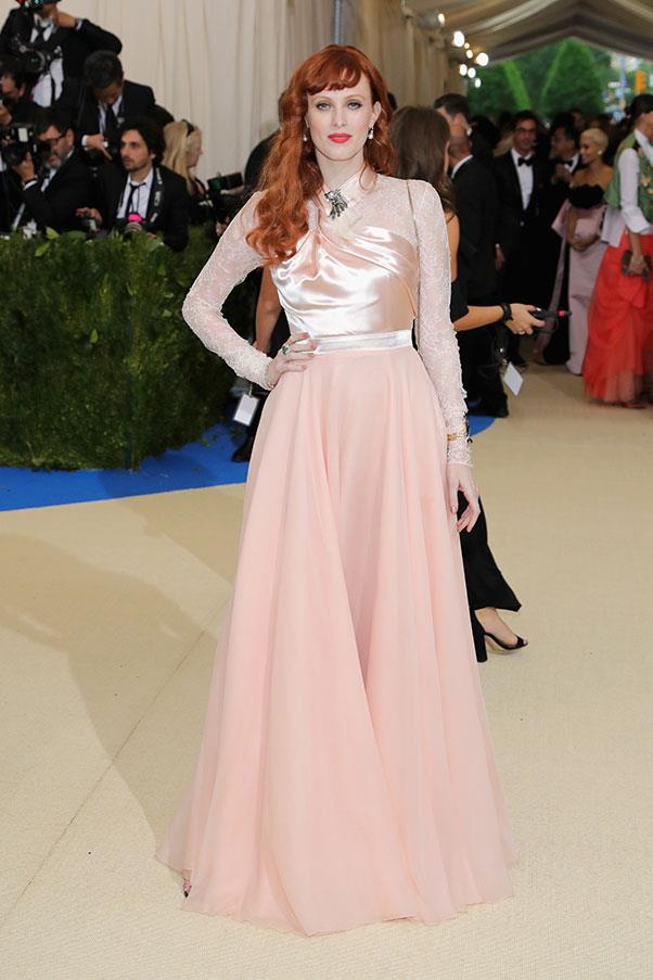 Karen Elson and Tiffany & Co. jewellery