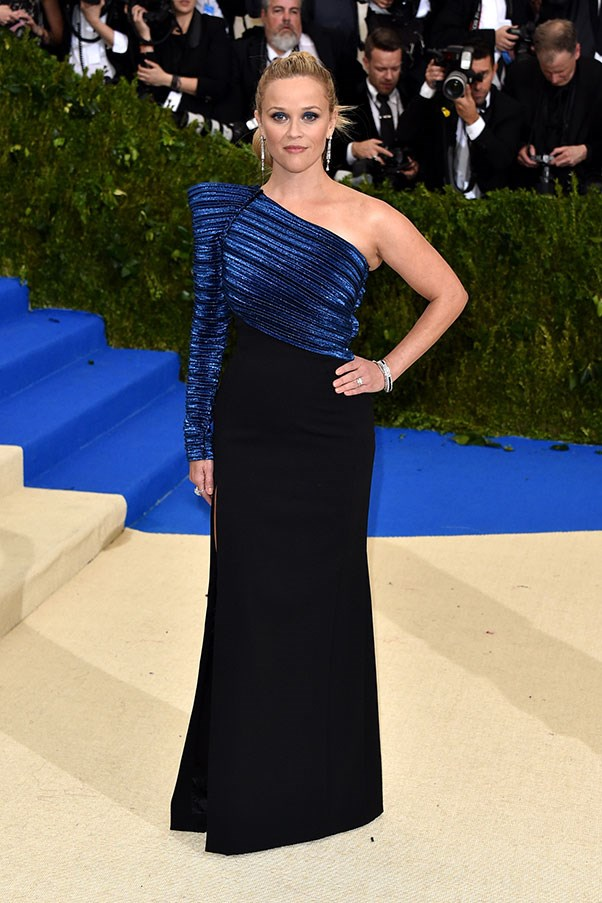 Reese Witherspoon in custom Mugler and Tiffany & Co. jewellery