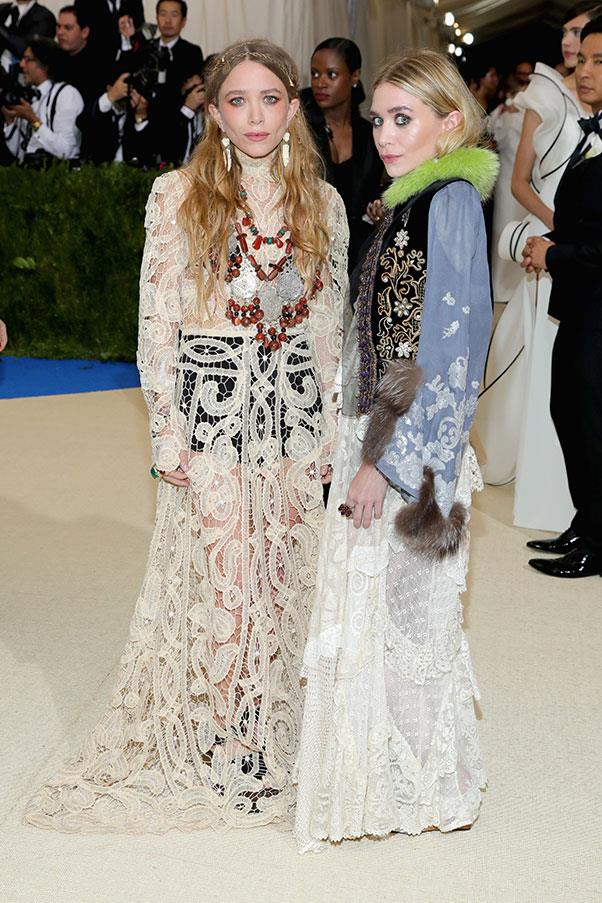 "<strong>Mary-Kate and Ashley Olsen</strong><br><br> ""Leaving aside any feelings about the fiddly harp-tutor vest and the roadkill-tufted sleeves, it's hard to see what they were going for here."" - Tom Lazarus, chief subeditor<br><br> ""I know many will disagree with me here, but I this level of co-ordinated eclecticism takes skill, and I applaud it."" - Alison Izzo, digital managing editor<br><br> ""The understated Queens of the Met Gala red carpet. Who/what are they wearing? No-one knows, and it doesn't matter anyway. Special props to Ashley's green fur-lined jacket, which looks like it was fished out of a vintage store in Silverlake (in the best possible way) but is probably a $15,000 custom job."" - Grace O'Neill, acting digital fashion editor"