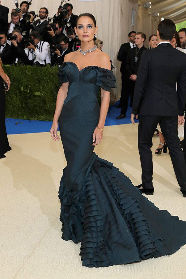 """<strong>Katie Holmes in Zac Posen</strong><br><br> """"I nearly fell asleep when Katie hit the red carpet in this fishtail number. Hasn't this look been done to death already?"""" Kate Moffatt, digital weekend editor"""