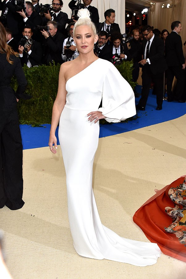 """<strong>Kate Hudson in Stella McCartney</strong><br><br> """"Ghostly in a good way."""" - Jessica Matthews, deputy chief subeditor<br><br> """"I am really into her hair."""" - Caroline Tran, junior fashion editor"""