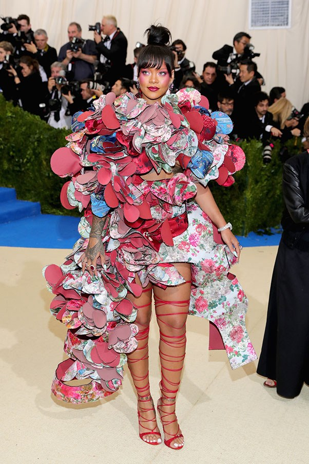 """<strong>Rihanna in Comme des Garçons</strong><br><br> """"Riri wins yet again. So on point – on theme, fun, whimsical, beautiful. I wonder if the allure and persona of Rihanna makes her pull off just about everything. She never gets it wrong."""" - Caroline Tran, junior fashion editor<br><br> """"While there are some important questions to address about this look (how did she eat while wearing it?) you have to give props to Rihanna for always adhering to a theme, and then going so over-the-top she leaves everyone else for dead."""" - Kate Moffatt, digital weekend editor"""