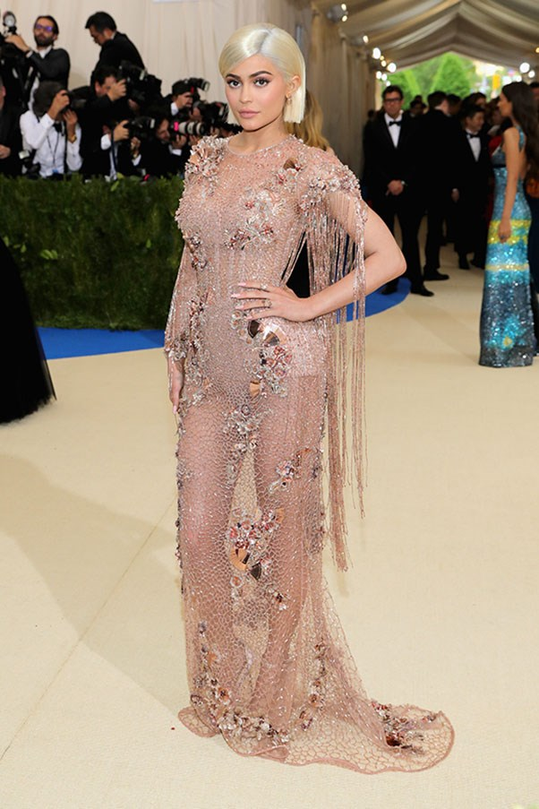 """<strong>Kylie Jenner in Versace</strong><br><br> """"I feel there isn't much positive to say about this one. I don't get it."""" - Grace O'Neill, acting digital fashion editor"""