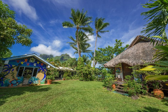 <strong>7. Bora, Bora Polynesia:</strong> While over-water bungalows might be all the rage amongst the celebrities, AirBnb recommends relaxing on the deck of these colourful offerings.