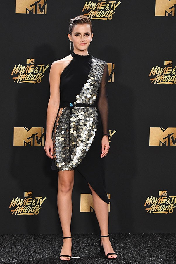 <strong>KitX</strong><br><br> Emma Watson wore a custom dress by Kit Willow, under her label KitX, to the MTV Movie and TV awards last night. On Instagram, she praised the Australian designer for her organic sustainable approach to design.