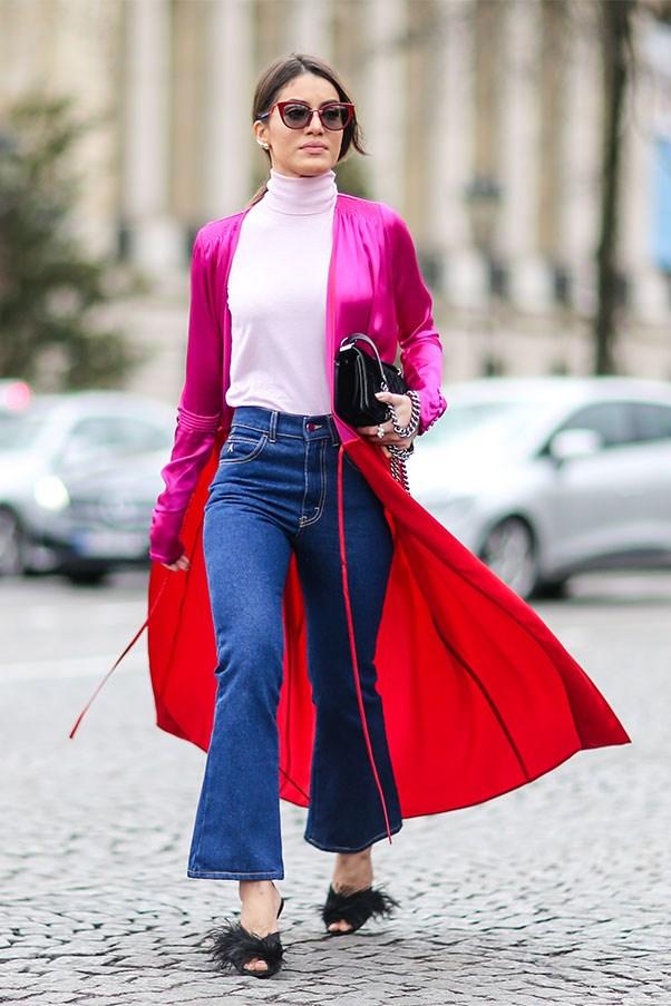 A Paris fashion week showgoer in Attico
