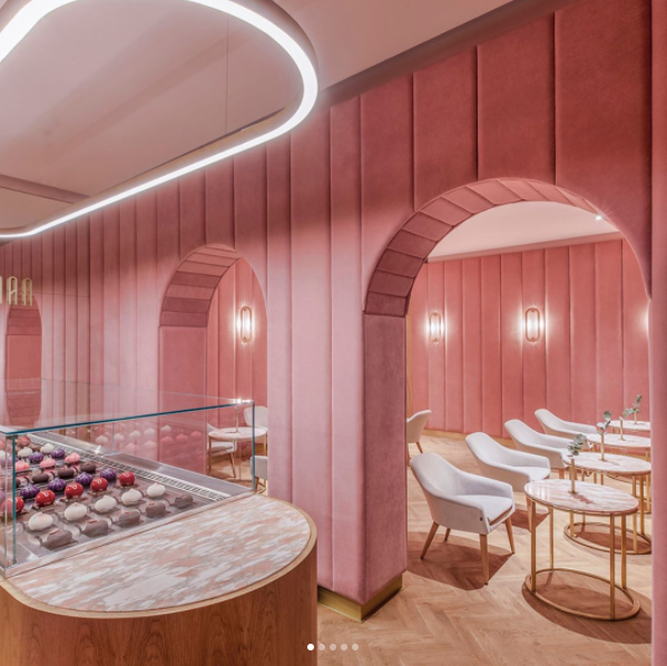 """Pany pasteles isn't the only pink patisserie we're bookmarking for our next overseas venture. <br> <br> <a href=""""http://thecoolhunter.net/nanan-patiserie-wroclaw-poland/"""">Nanan Patiserie</a> in Wroclaw, Poland, is also high on the list. <br> <br> @<a href=""""https://www.instagram.com/p/BREnwkhBqIM/?taken-by=thecoolhunter_"""">thecoolhunter_</a>"""