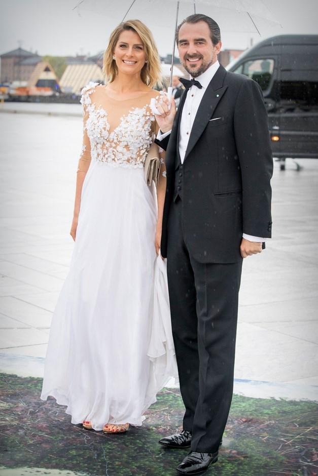 Princess Tatiana of Greece, in Celia Kritharioti, and Prince Nikolaos.