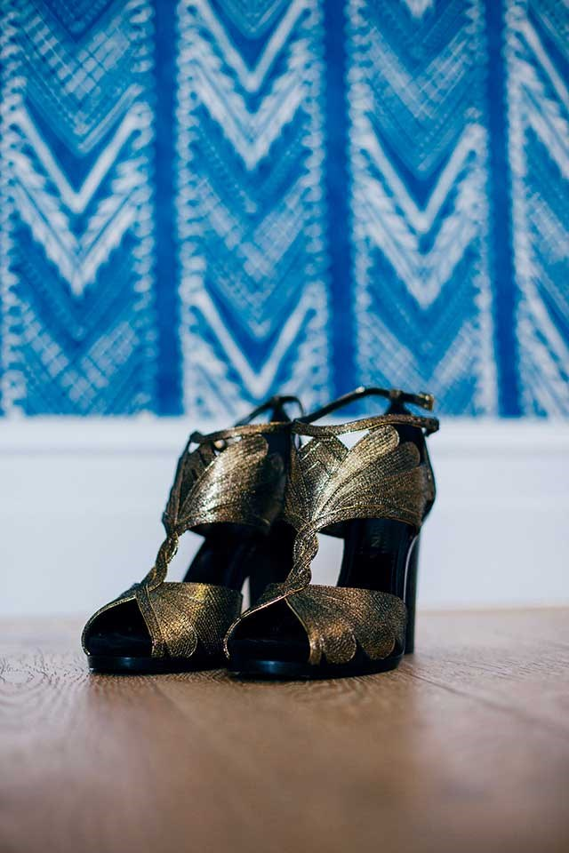 <strong>On the accessories: </strong> <br><br> My favourite accessory was my metallic Lanvin Shoes.  I love a bit of sparkle and these shoes made me feel more like myself on the day.