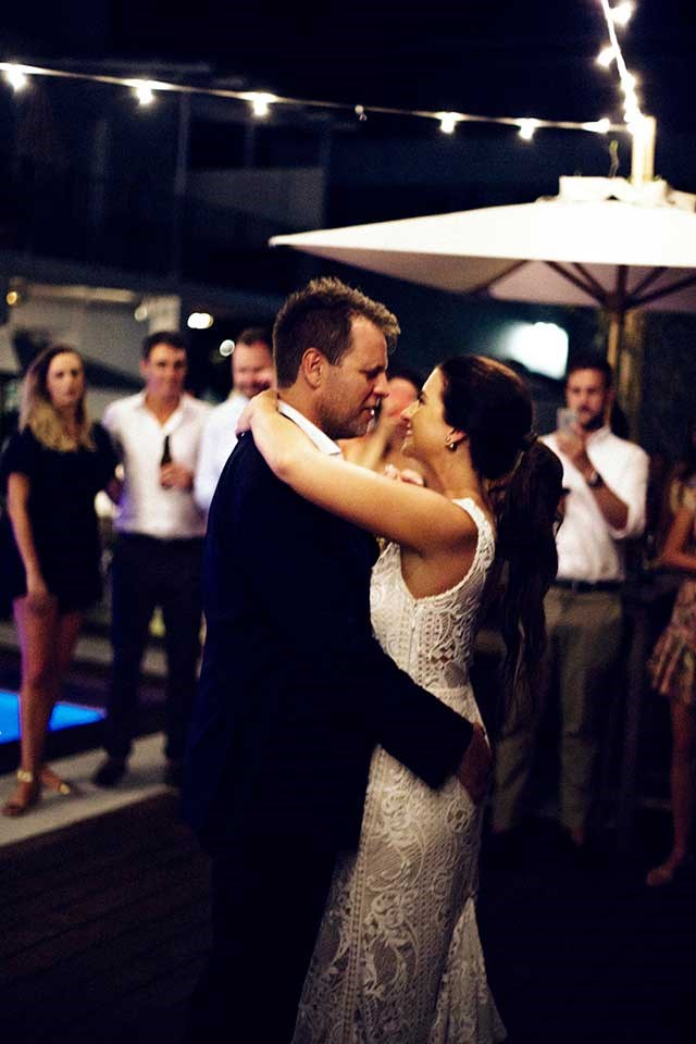 <strong>On their first dance: </strong> <br><br> Our first dance was to 'Make it Wit Chu' by Queen of the Stone Age.