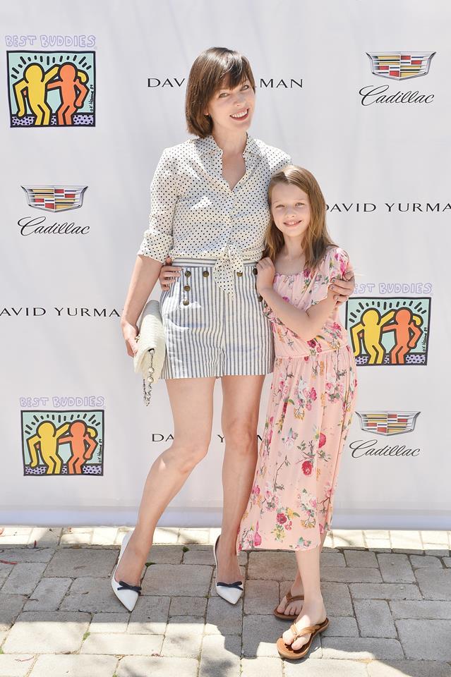 Milla Jovovich and daughter