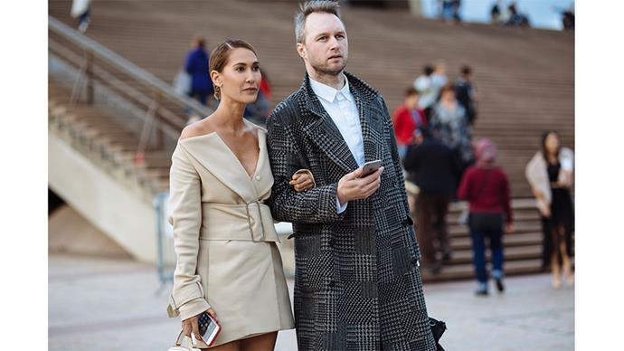 "Lindy Klim and Toni Matičevski<br><br> Image: <a href=""http://www.stylesnooperdan.com/"">Stylesnooperdan</a>"
