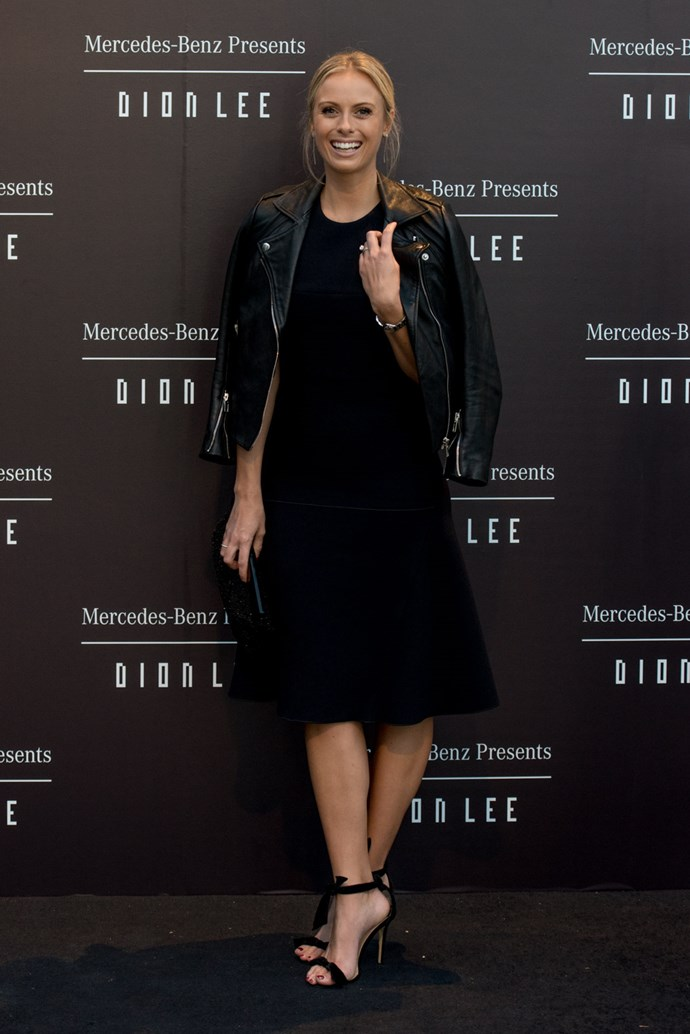 Sylvia Jeffreys at the opening night dinner in honour of Dion Lee.
