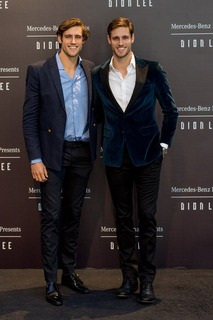 Jordan and Zac Stenmark at the opening night dinner in honour of Dion Lee.