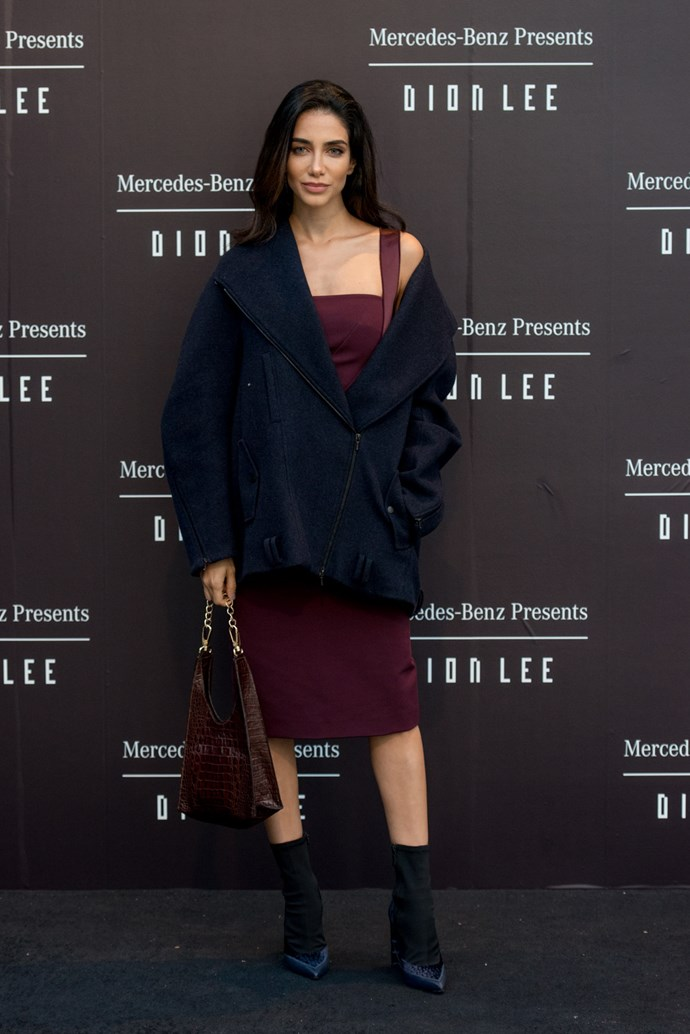 Jessica Kahawaty at the opening night dinner in honour of Dion Lee.