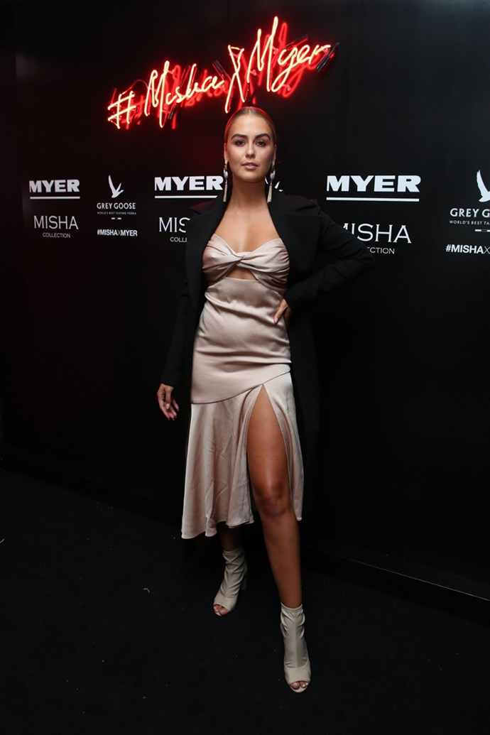 Steph Claire Smith at the Misha Collection and Myer party at Bondi Icebergs.