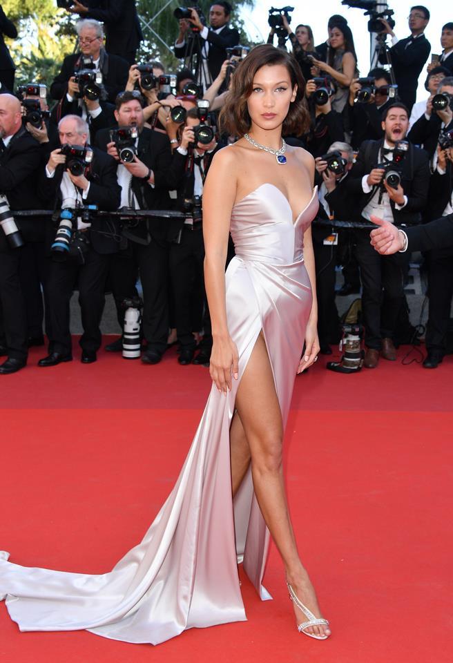 Bella Hadid in custom Alexandre Vauthier