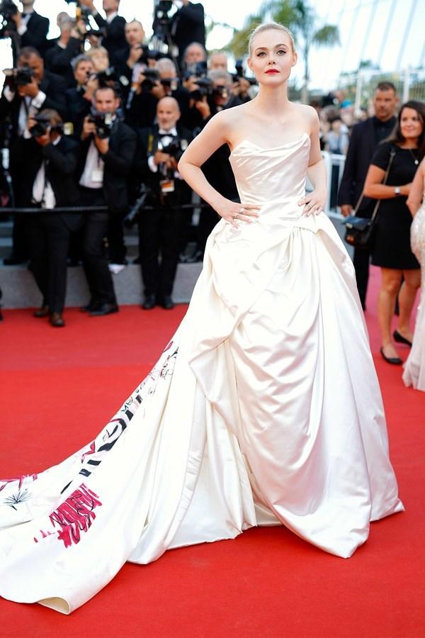 Elle Fanning in custom Vivienne Westwood Couture