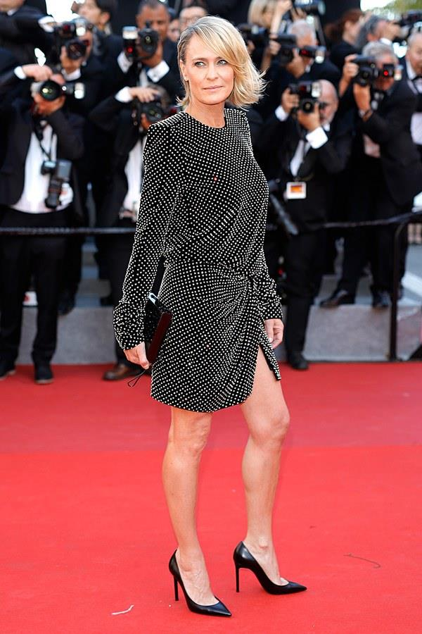 Robin Wright in Saint Laurent