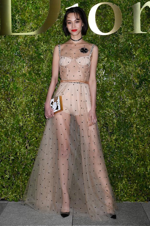 Kiko Mizuhara at the Dior 2017 Spring/Summer Haute Couture Collection Show.