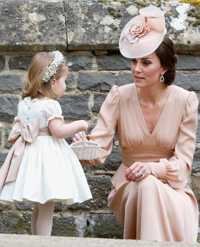 The dress featured the draping work favoured by the Duchess.