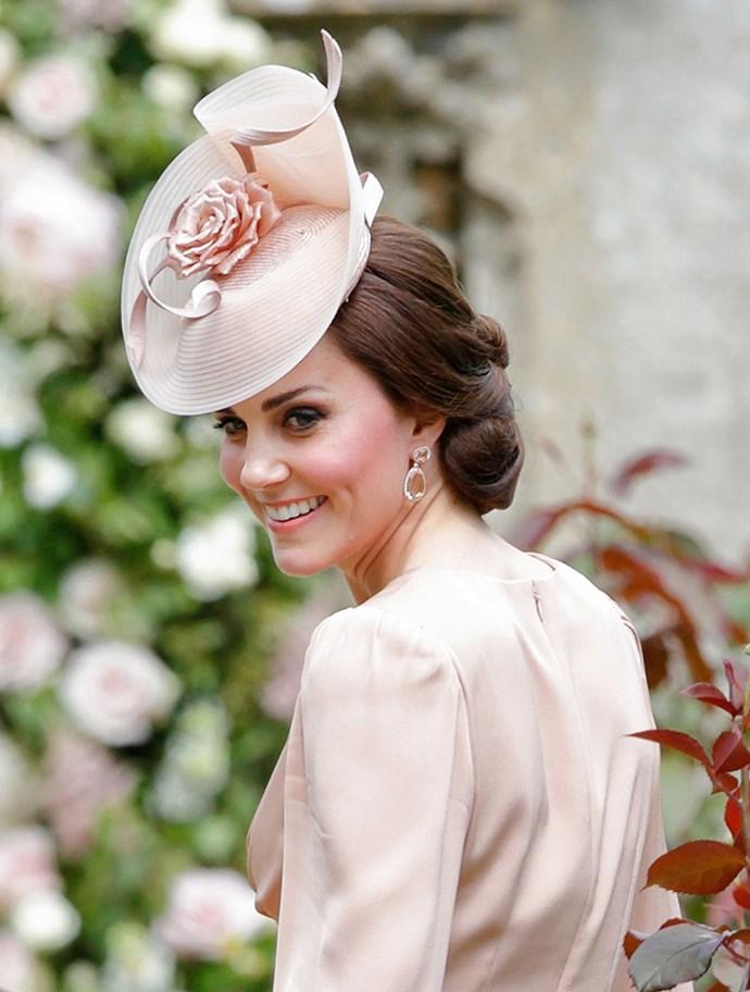 Middleton wore a matching fascinator.