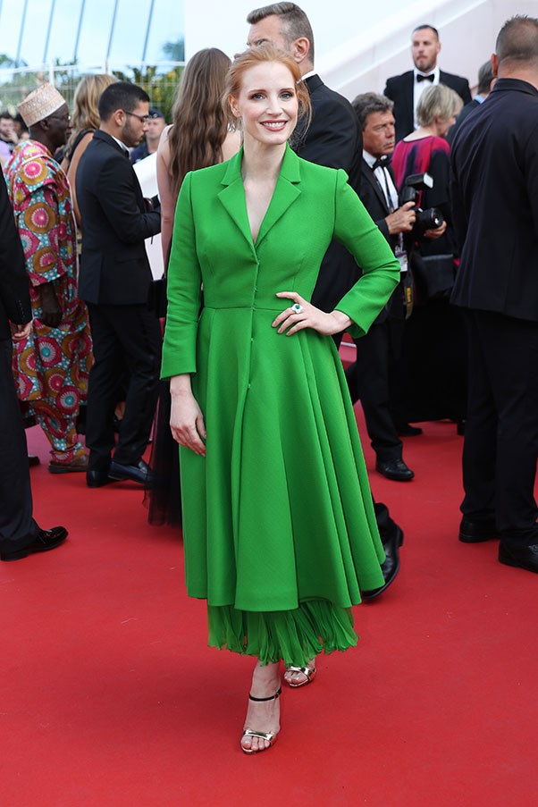 Jessica Chastain in Dior